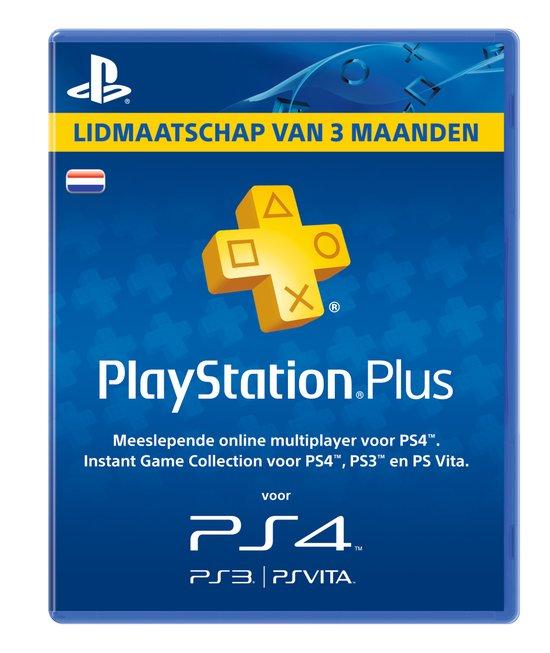 Sony PlayStation Plus Abonnement 90 Dagen Nederland - PS4 + PS3 + PS Vita + PSN
