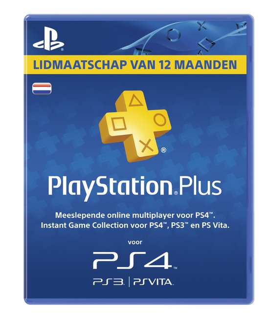 Sony PlayStation Plus Abonnement 365 Dagen - Nederland (PS4 + PS3 + PS Vita + PSN)