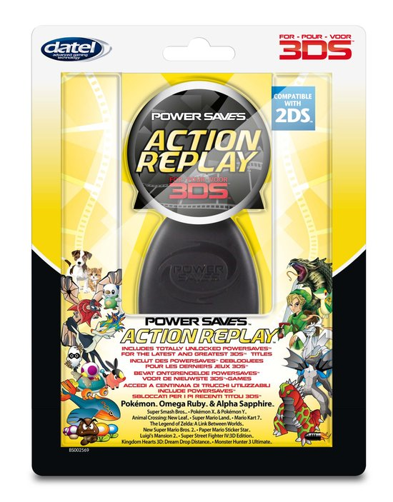 Power Saves Action Replay 2DS + 3DS + 3DS XL