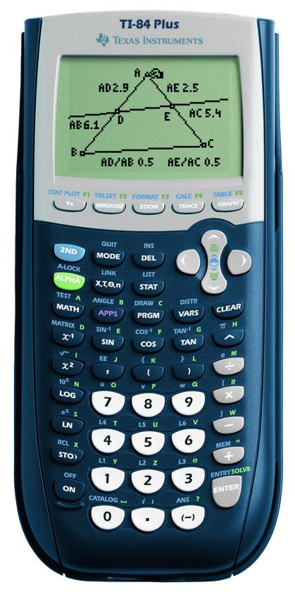 Top 10 Top 10 Schoolspullen: Texas Instruments TI-84 PLUS - Grafische rekenmachine