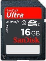 Sandisk Ultra SD kaart 16 GB