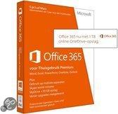 Microsoft Office 365 Home Premium - Nederlands / 1 Gebruiker/ 5 apparaten  / 1 Jaar / Productcode zonder DVD