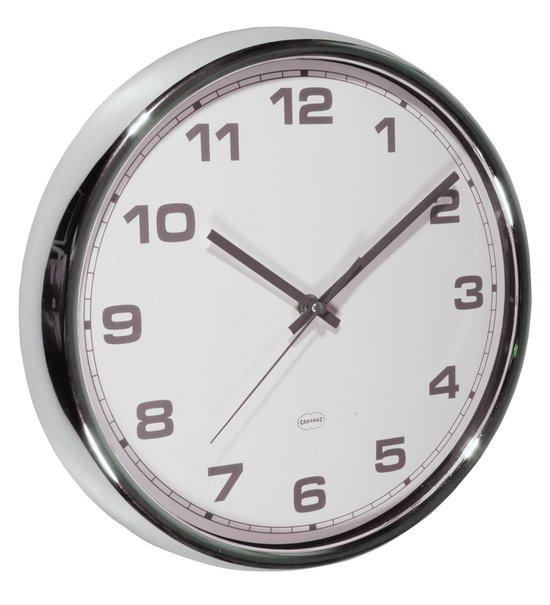 Top 10 Top 10 klokken - Modern & retro: Cabanaz - Klok - Rond - Multimateriaal - Ø30 cm - Grijs