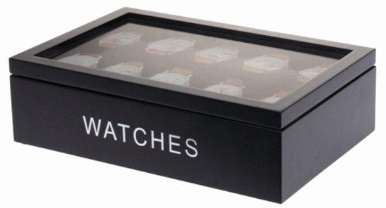 Riverdale Horlogebox XL - Zwart - 34 cm