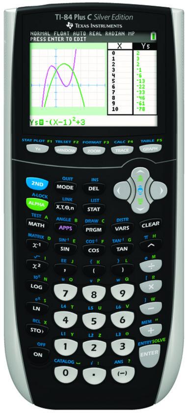 Texas Instruments TI-84+ COLOR - Grafische Rekenmachine / Zilver
