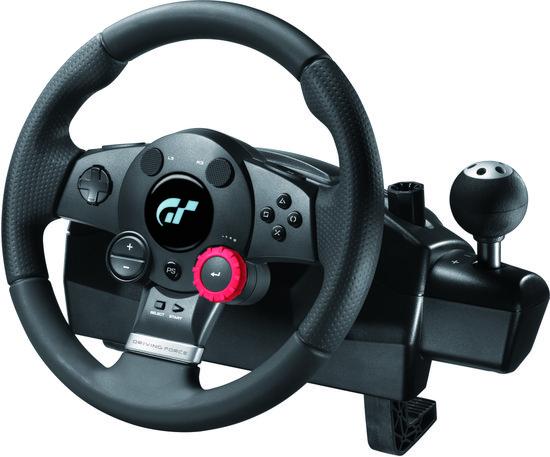 Logitech Driving Force GT Racestuur + Versnellingspook - Zwart (PS3 + PS2)