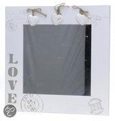 Top 10 Top 10 staande spiegels: DSM Love - Spiegel - 35x35 cm