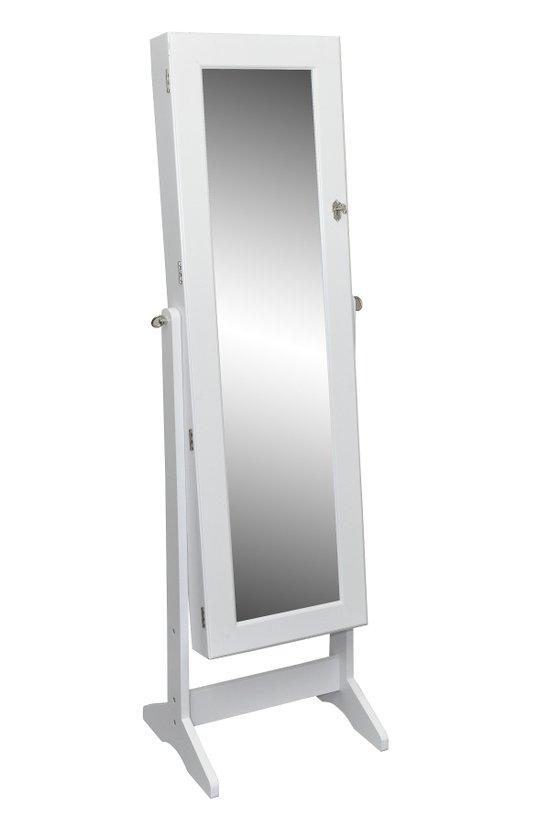 Top 10 Top 10 staande spiegels: vidaXL Sieradenkast - Passpiegel - Wit