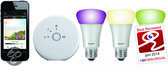 Philips hue LED Lamp - Starter Pack - 3 lampen plus bridge (gekleurd licht)