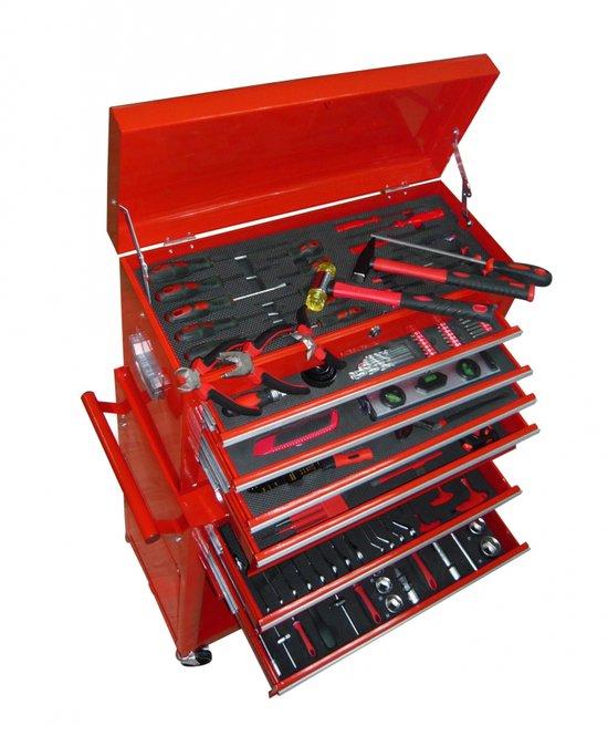vidaXL Gereedschapskar Verrijdbare gereedschapswagen met 7 lades en gereedschap 140075