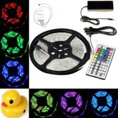 OmYmO SMD5050 - Led strip - 5m - RGB - 72W - IP65 - Incl. 44 button remote