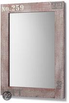 Top 10 Top 10 hangende spiegels: LaForma Spiegel Nature - Grijs met betonlook gecombineerd