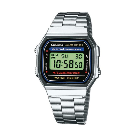 Casio A168WA-1YES - Horloge - 36.30 mm - Zilverkleurig