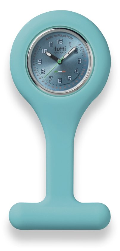 Tutti Milano Verpleegstershorloge - 27 mm - Turquoise - Collectie Oceano Sorella