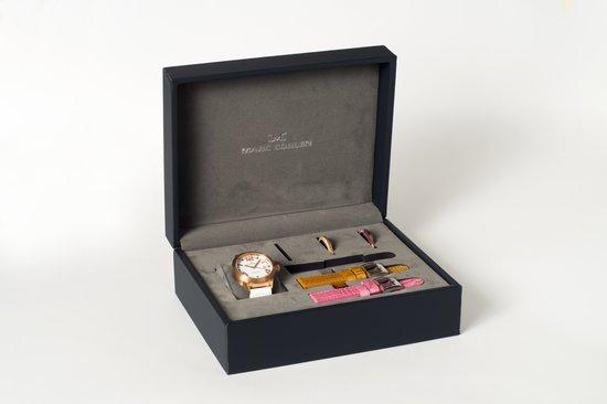 Horlogedoos - 1 horloge, 3 horlogebanden en 3 verwisselbare horlogerings