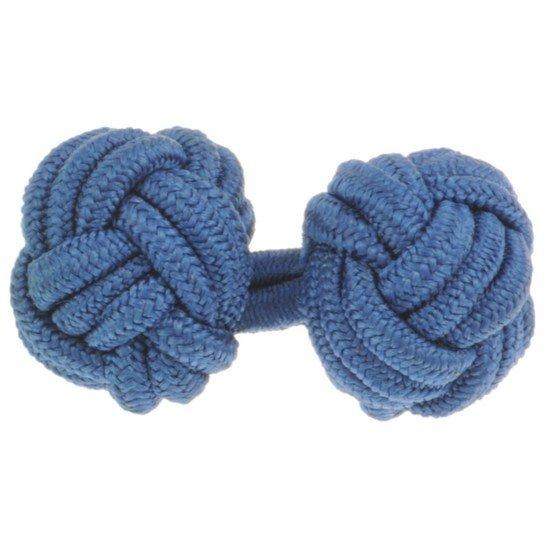 Gevlochten Manchetknopen - Blauw