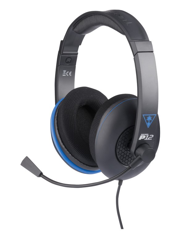 Turtle Beach Ear Force P12 Wired Stereo Gaming Headset - Zwart (PS4 + PS Vita + Wii U + 3DS + Mobile)