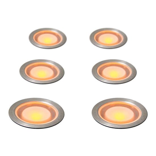QAZQA Guard - Inbouwspots - LED - IP54 - Set 6 spots - Geel Licht