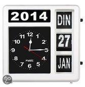 Top 10 Top 10 klokken - Modern & retro: Kalender extra groot - Klok - Kunststof - 32x32 cm - Wit