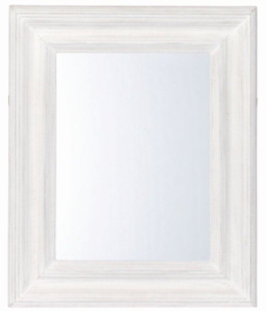 Top 10 Top 10 hangende spiegels: Riverdale Paris Rechthoek - Spiegel - Wit - 42x56,5 cm
