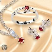 Luigi Vicaro Granaat sieradenset Sieraden geschenkset