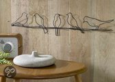 Graham & Brown Wand- of plafonddecoratie Metal Art  - Birds On A Wire (63x21x2.5)