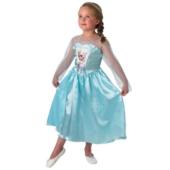 Sneeuwkoningin Frozen - Verkleedkleding - Maat M - 110/116) - 5-6 jaar