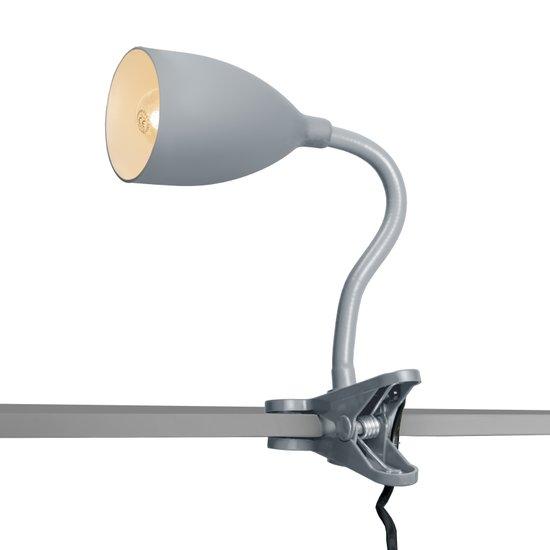 QAZQA Young flex - Bureaulamp/Klemlamp - Grijs
