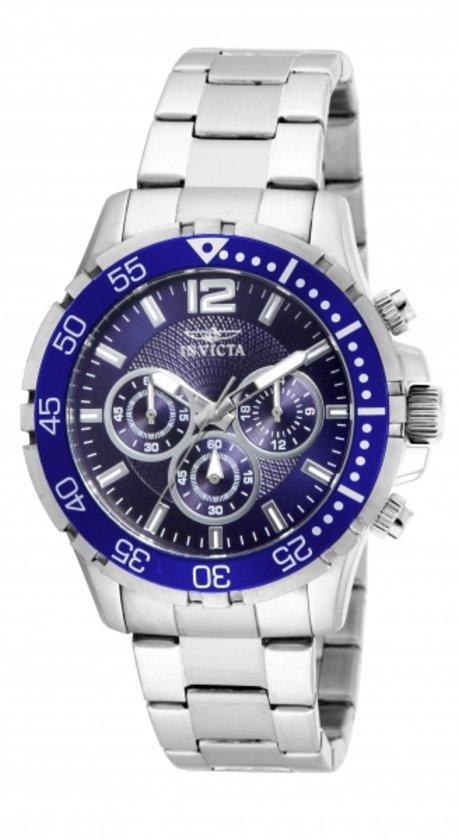 Invicta Pro Diver 16286 - Horloge - Zilverkleurig/Blauw