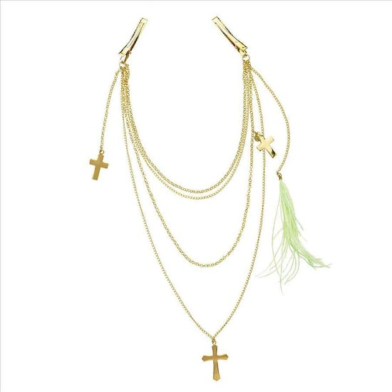 YC Jewels Haarsieraad YCJ9001 - Chained by Faith