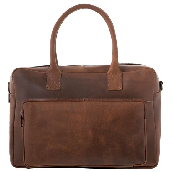 Burkely Split Hunter Laptoptas 15 inch – Aktetas – Cognac
