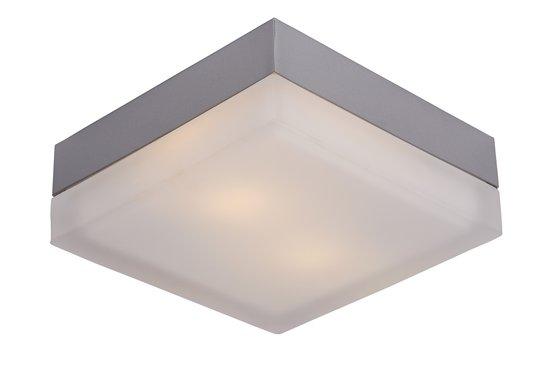 Lucide Spa - Plafonniere  - Vierkant - 23/23/8cm - IP44 - Grijs