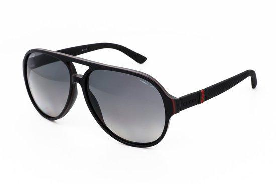 Top 10 Top 10 Opzetzonnebrillen: Gucci GG 1065/S Polarized 4UP/WJ - Zonnebril - Zwart