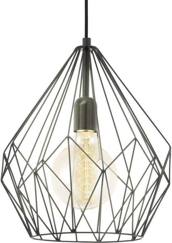 EGLO Vintage - Hanglamp - 1 Lichts - Zwart