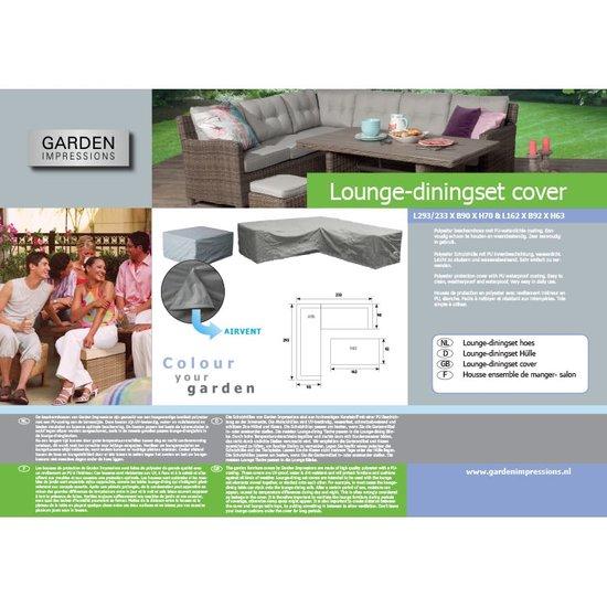 Garden Impressions lounge set hoes L-vorm 255/255x90xH70 cm