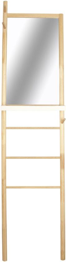 Leitmotiv Spiegel Ladder - Staande Spiegel - Lichtbruin