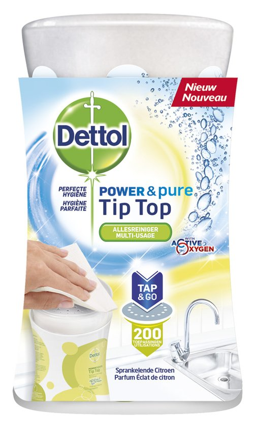 Dettol TipTop Sprankelende Citroen - 415 ml - Allesreiniger