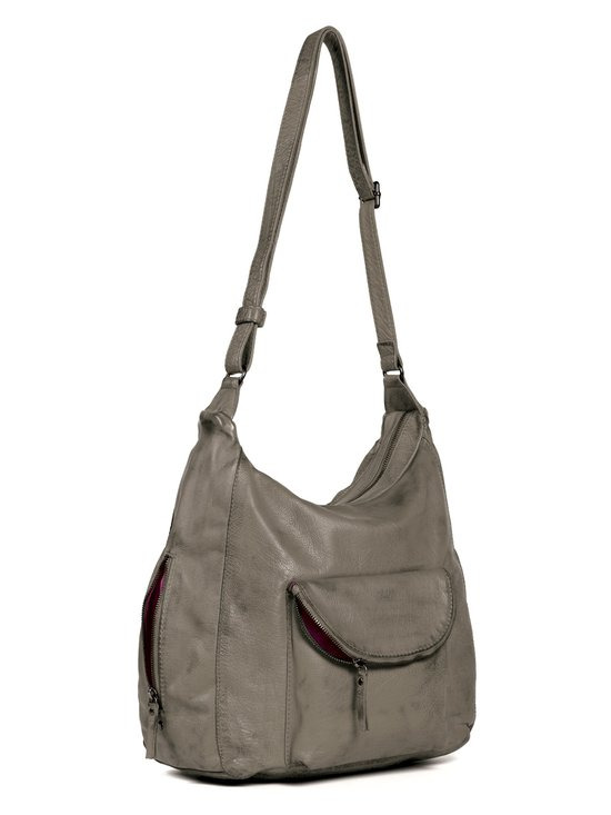 Top 10 Top 10 Hobotas: Sticks and Stones Mendoza Bag Washed - Hobotas - Light Taupe
