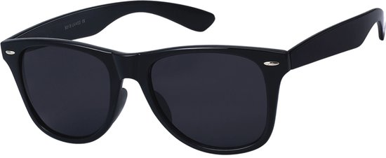 Kost© Trendy - Zonnebril - Wayfarer style met zwarte glazen