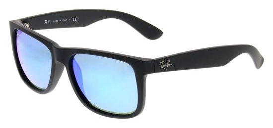Ray-Ban Justin RB4165 622/55 - Zonnebril - Zwart/Blauw Mirror - 55 mm