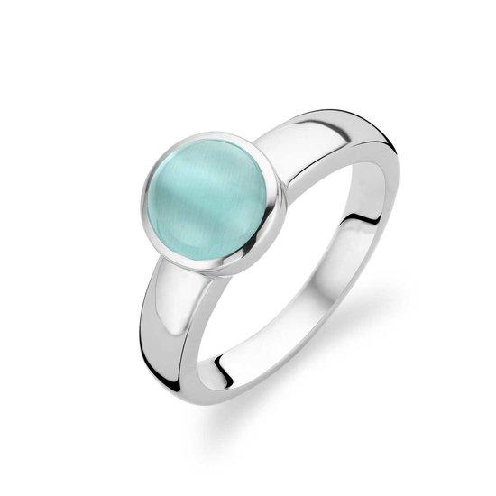 Ti Sento Ring 1731AG - Zilver met aquagroen steen - Maat 56 (17.75)