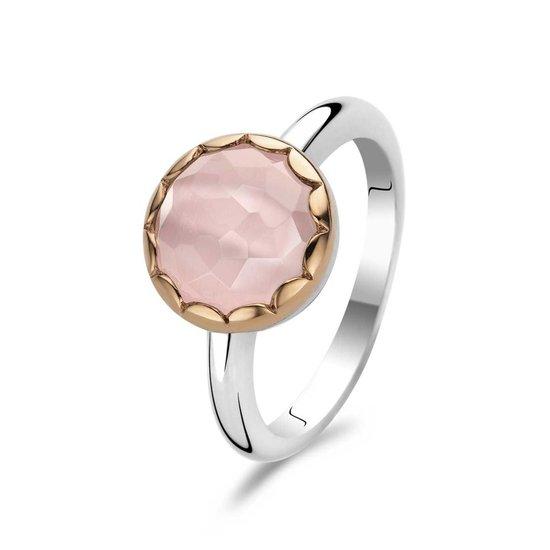 Ti Sento Ring 1880CP - Zilver met roze steen - Roségoud verguld - Maat 54