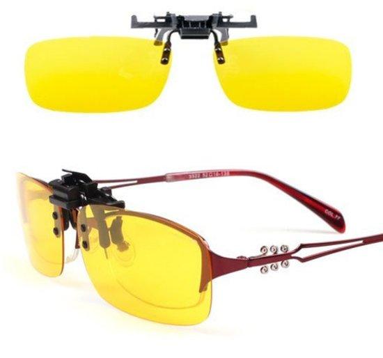 Overzet zonnebril | Clip-On Geel | Opzetzonnebril