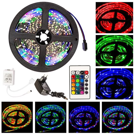 5 meter RGB LED strip Lichtslang SMD 3528 lighttube 401450