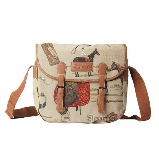 Gobelin - Schooltas - Messengertas - Paard - Paarden - 12960