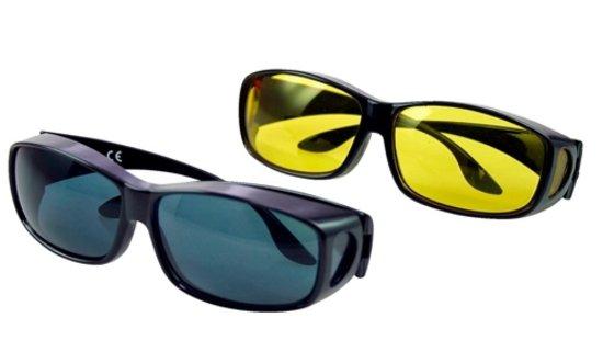 Overzet nachtbril + zonnebril
