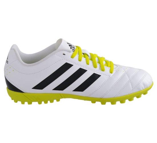 adidas Goletto V TF - Kunstgrasschoenen - Mannen - Maat 40 - wit/ zwart/ geel