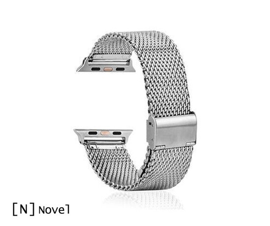 Novel RVS Apple watch bandje zilver (42mm)