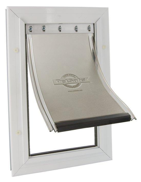 Staywell Hondenluik 640 tot 45 kg - Aluminium/Wit