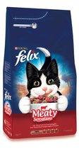 Felix Meaty Sensations - Kattenvoer - Rund, Kip & toegevoegde Groenten -  4 kg